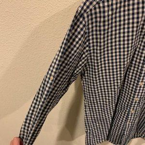 Frank & Oak Shirts - Frank & Oak navy white checkered button down shirt